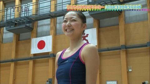 新体操の畠山愛里の着衣おっぱいがセクシーなキャプエロ画像 2342