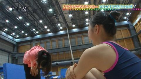 新体操の畠山愛里の着衣おっぱいがセクシーなキャプエロ画像 3034