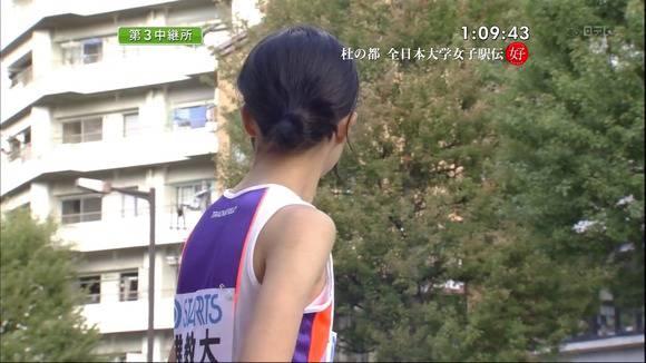 陸上部の女子がユニホームを着て汗を描いてる素人エロ画像 3112