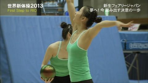 新体操の畠山愛里の着衣おっぱいがセクシーなキャプエロ画像 3157