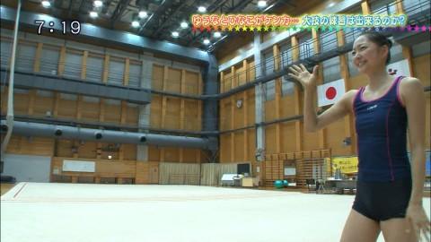 新体操の畠山愛里の着衣おっぱいがセクシーなキャプエロ画像 3158