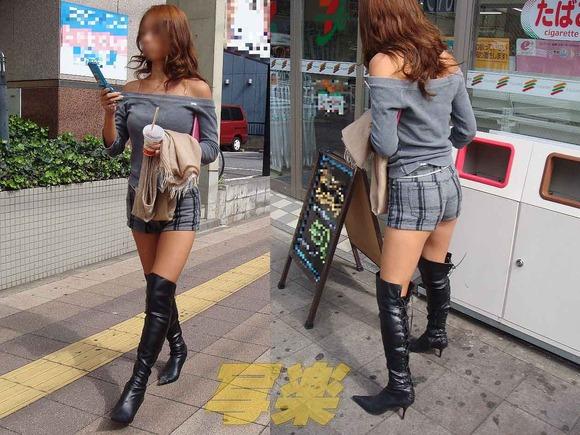 赤の他人の何気ない仕草がエロい素人娘の街撮りエロ画像 3311