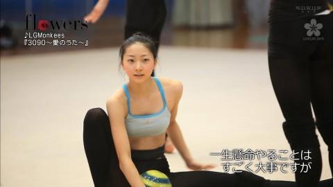 新体操の畠山愛里の着衣おっぱいがセクシーなキャプエロ画像 3626