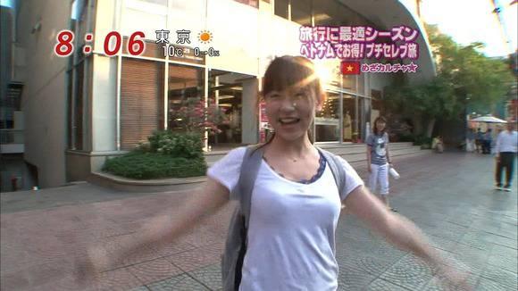 美人OLの女子アナがテレビでエッチな姿を披露するキャプエロ画像 3713