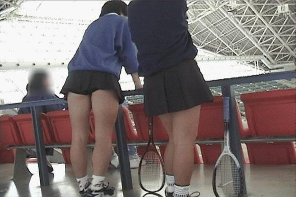 テニス部の女子が試合を頑張ってるお尻のエロ画像 512