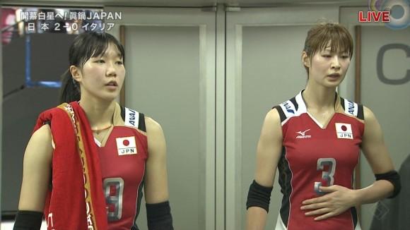 女子バレー会のアイドル木村沙織のユニフォーム着衣おっぱいのエロ画像 1056