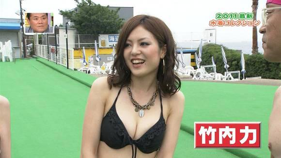 テレビ番組で披露された素人のビキニ姿のキャプエロ画像 1141