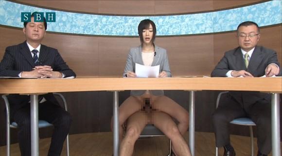 生本番中にニュースを読む女子アナがセックスしちゃってるキャプエロ画像 1243