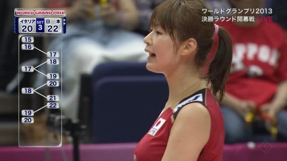 女子バレー会のアイドル木村沙織のユニフォーム着衣おっぱいのエロ画像 2053