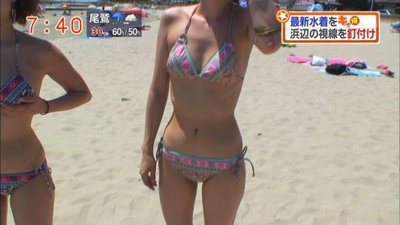 テレビ番組で披露された素人のビキニ姿のキャプエロ画像 2614