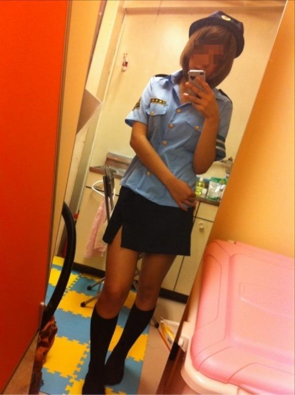 セフレに婦警のコスプレさせてエッチした時の投稿エロ画像 3010