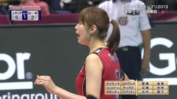 女子バレー会のアイドル木村沙織のユニフォーム着衣おっぱいのエロ画像 3021