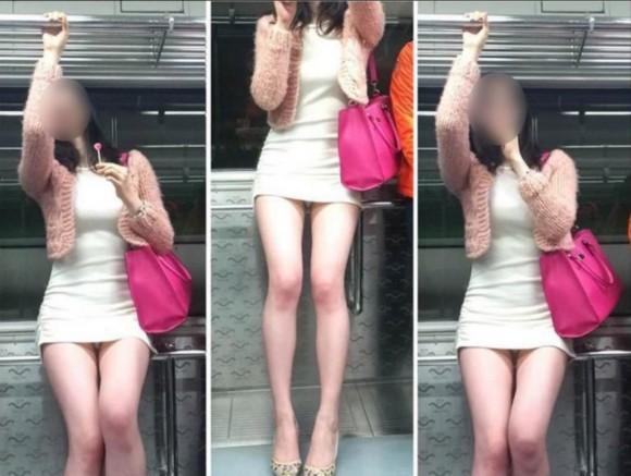 スタイル抜群な素人の韓国ギャルが街撮りされたエロ画像 3123