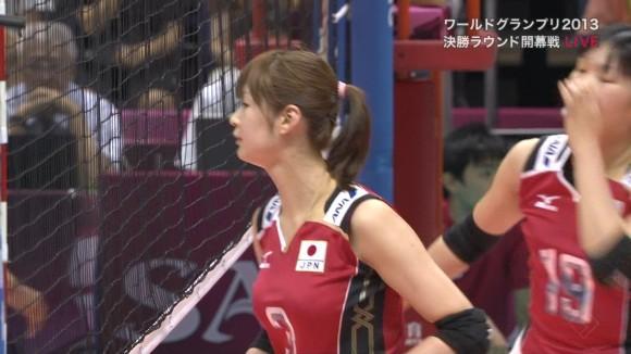 女子バレー会のアイドル木村沙織のユニフォーム着衣おっぱいのエロ画像 3129