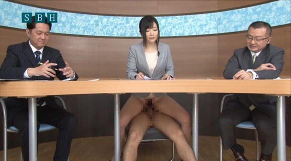 生本番中にニュースを読む女子アナがセックスしちゃってるキャプエロ画像 3218