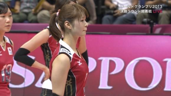 女子バレー会のアイドル木村沙織のユニフォーム着衣おっぱいのエロ画像 755