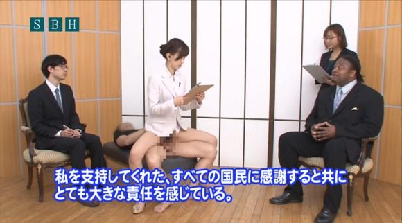 生本番中にニュースを読む女子アナがセックスしちゃってるキャプエロ画像 841