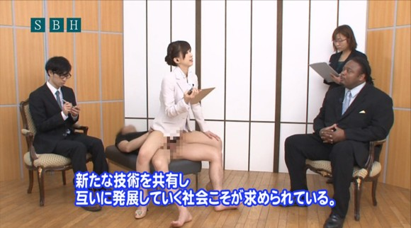 生本番中にニュースを読む女子アナがセックスしちゃってるキャプエロ画像 942