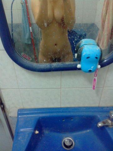 お風呂入ってる彼女を激写して流出したエロ画像 1073