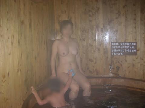 元カノとのお泊り旅行で露天風呂に一緒に入って写メった投稿エロ画像 2813