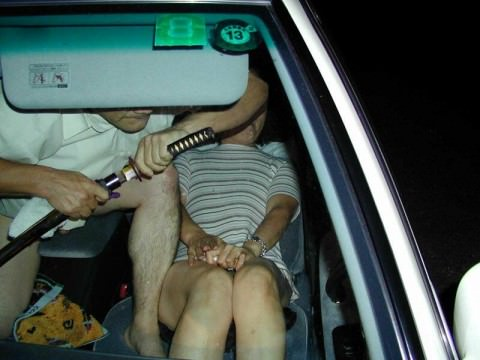 ガチカーセックスしてるカップルを激写したエロ画像 286