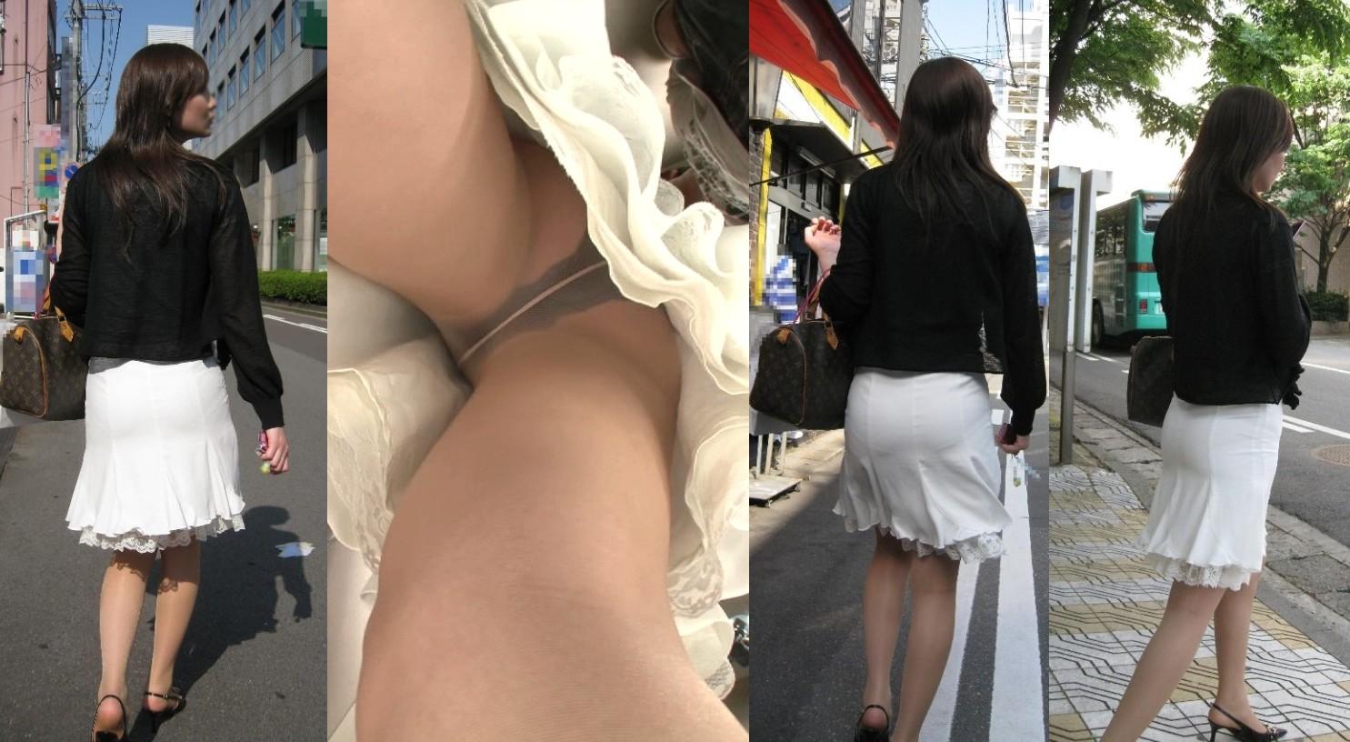 パンスト履いたお姉さんたちの気になるスカートの中のパンチラ画像 2379