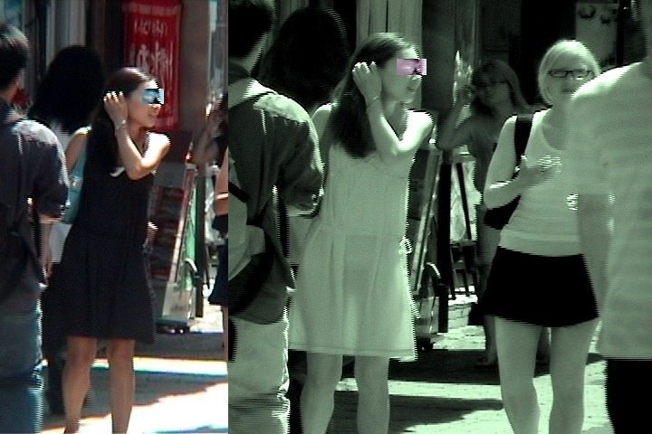 赤外線カメラを使っておっぱい丸透けの街撮りエロ画像 2593