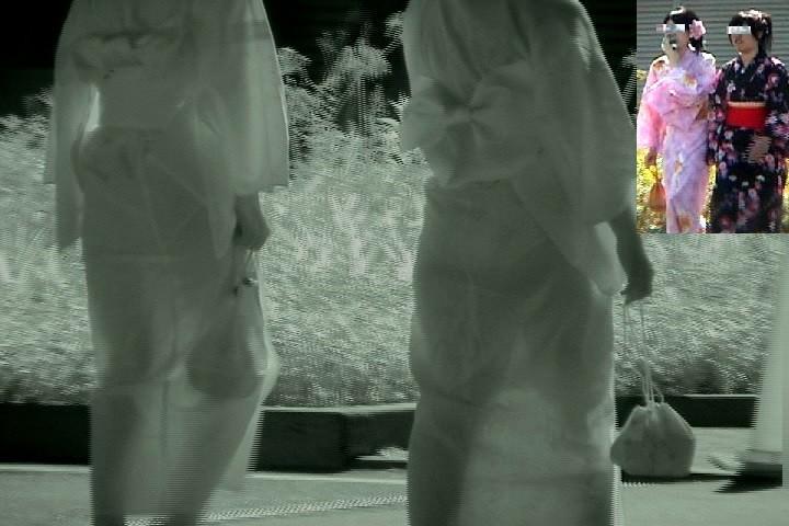 赤外線カメラを使っておっぱい丸透けの街撮りエロ画像 7143