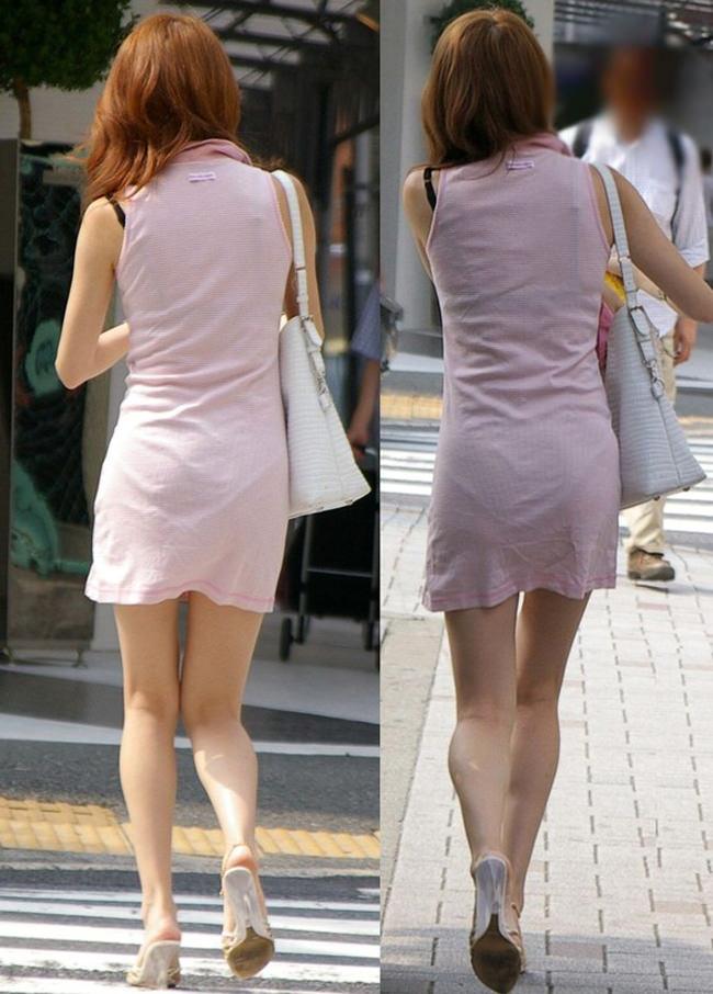 夏も終わるし街で見かけたパンツ透け透け娘の街撮り放出wwww 0460