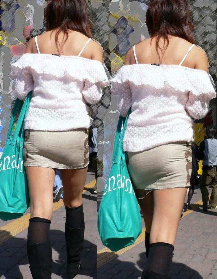 夏も終わるし街で見かけたパンツ透け透け娘の街撮り放出wwww 0464