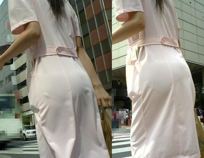 夏も終わるし街で見かけたパンツ透け透け娘の街撮り放出wwww 0471