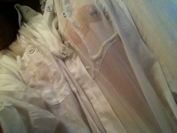 裸にYシャツとかエロ過ぎる透け透けおっぱいの自画撮りエロ画像 1513