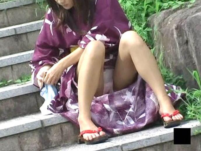浴衣姿が可愛いの女の子のパンチラ画像 167