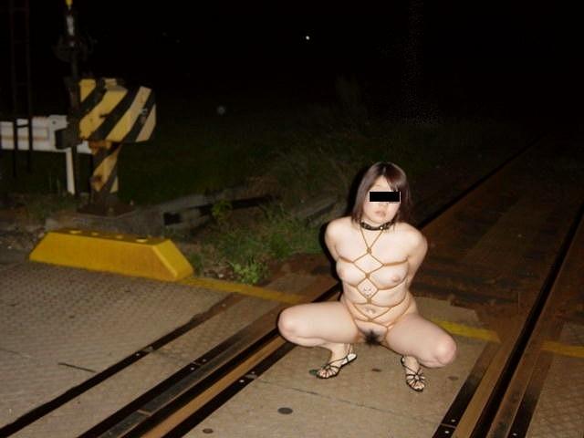 猥褻な姿を堂々と晒す変態女の露出プレイエロ画像 1230