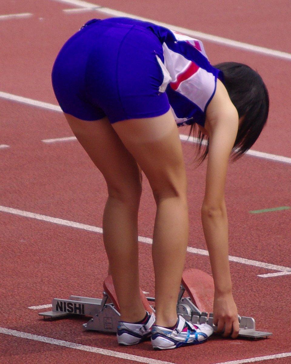 女子陸上選手のむっちりお尻がオナニーに最適なスポーツ系エロ画像 1829