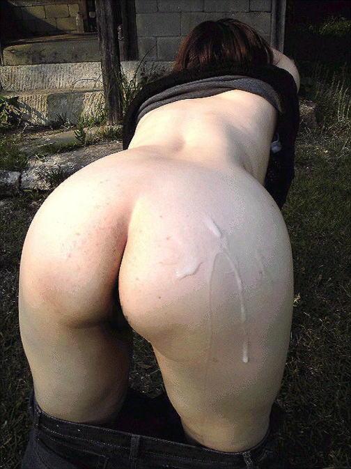 お尻にザーメン大量ぶっかけされて写メ撮られてるセフレのエロ画像 2121