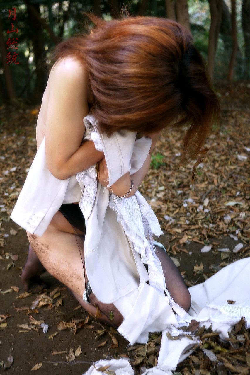 レイプされて乱れた姿になってる女体のエロ画像 236