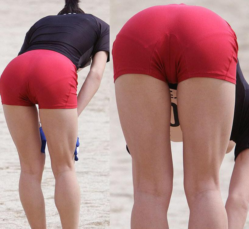 女子陸上選手のむっちりお尻がオナニーに最適なスポーツ系エロ画像 268