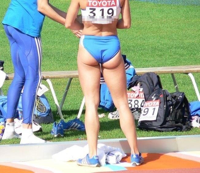 女子陸上選手のむっちりお尻がオナニーに最適なスポーツ系エロ画像 331