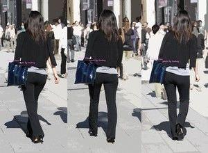 パンツスーツやタイトスカートを履いたOLお姉さんのお尻を追っかける街撮りエロ画像 1763