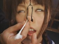 美女が鼻フックされてキモい顔になってる事に性的興奮を覚えるヤバいソフトSMエロ画像