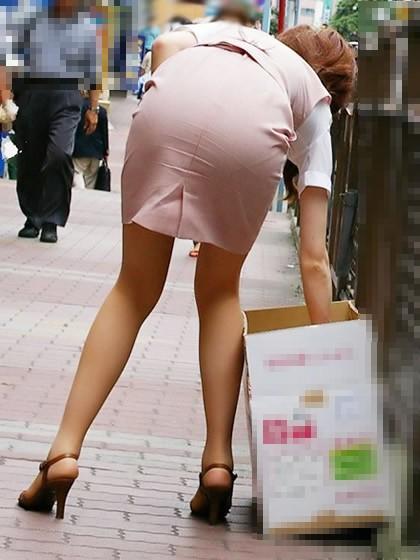 ガチOLの働くお姉さんたちのお尻を激写した街撮りエロ画像 216