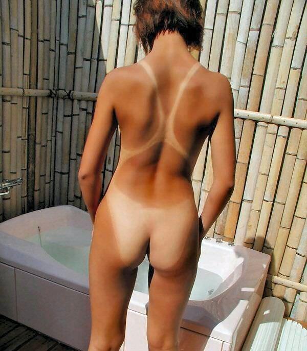 夏の陽気に季節限定のギャル化した小娘が日焼けした体でセフレとエッチするエロ画像 825