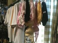 彼女や嫁がガチ使用してるパンティーやブラジャーの洗濯物の素人下着エロ画像