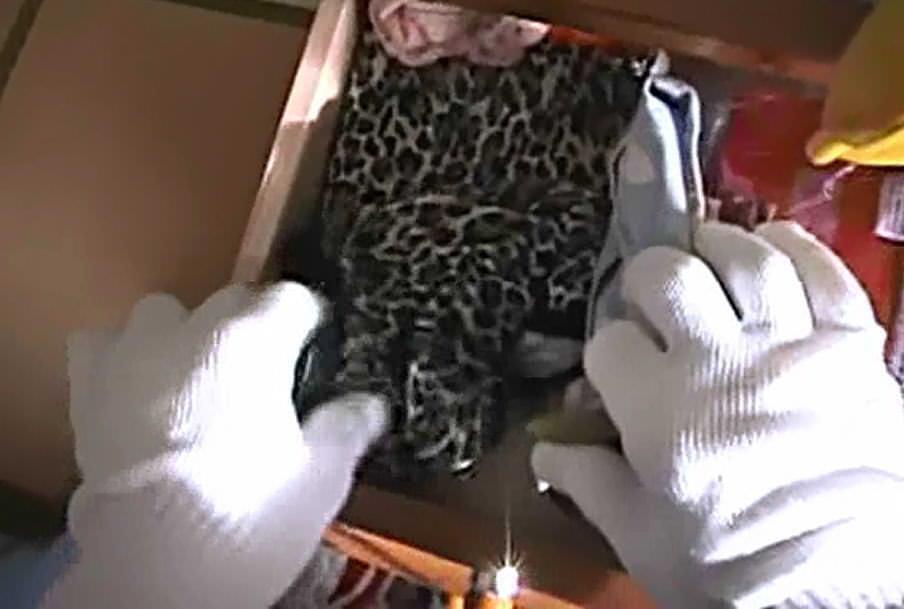 一人暮らしのOL宅に侵入してパンティーやブラを盗み撮りした下着エロ画像 1248