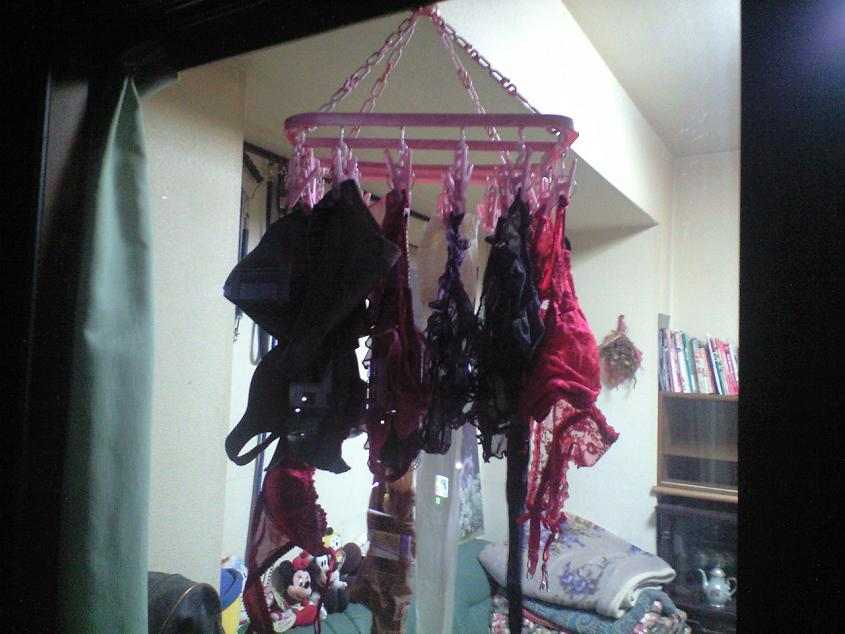 彼女や嫁がガチ使用してるパンティーやブラジャーの洗濯物の素人下着エロ画像 16
