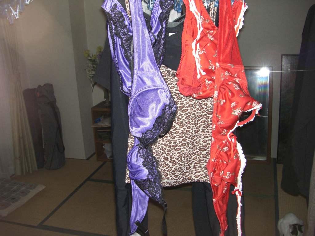 彼女や嫁がガチ使用してるパンティーやブラジャーの洗濯物の素人下着エロ画像 17