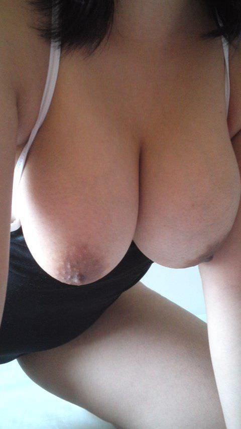 豊満な自慢の巨乳おっぱいを自画撮りする素人娘のエロ画像 2230
