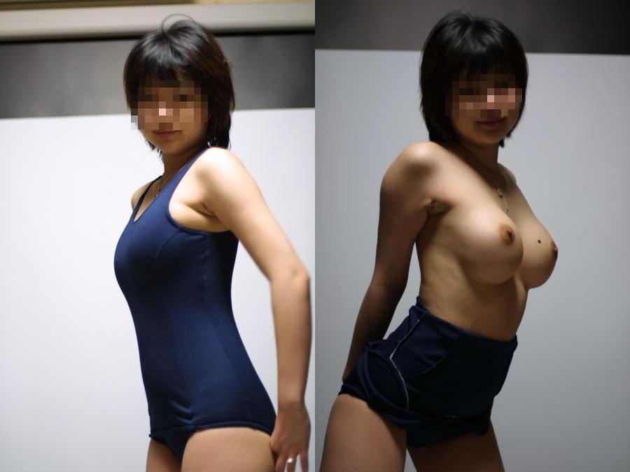 コスプレ好きの素人娘がスクール水着を着てエロ写メとってる自画撮りエロ画像 1306