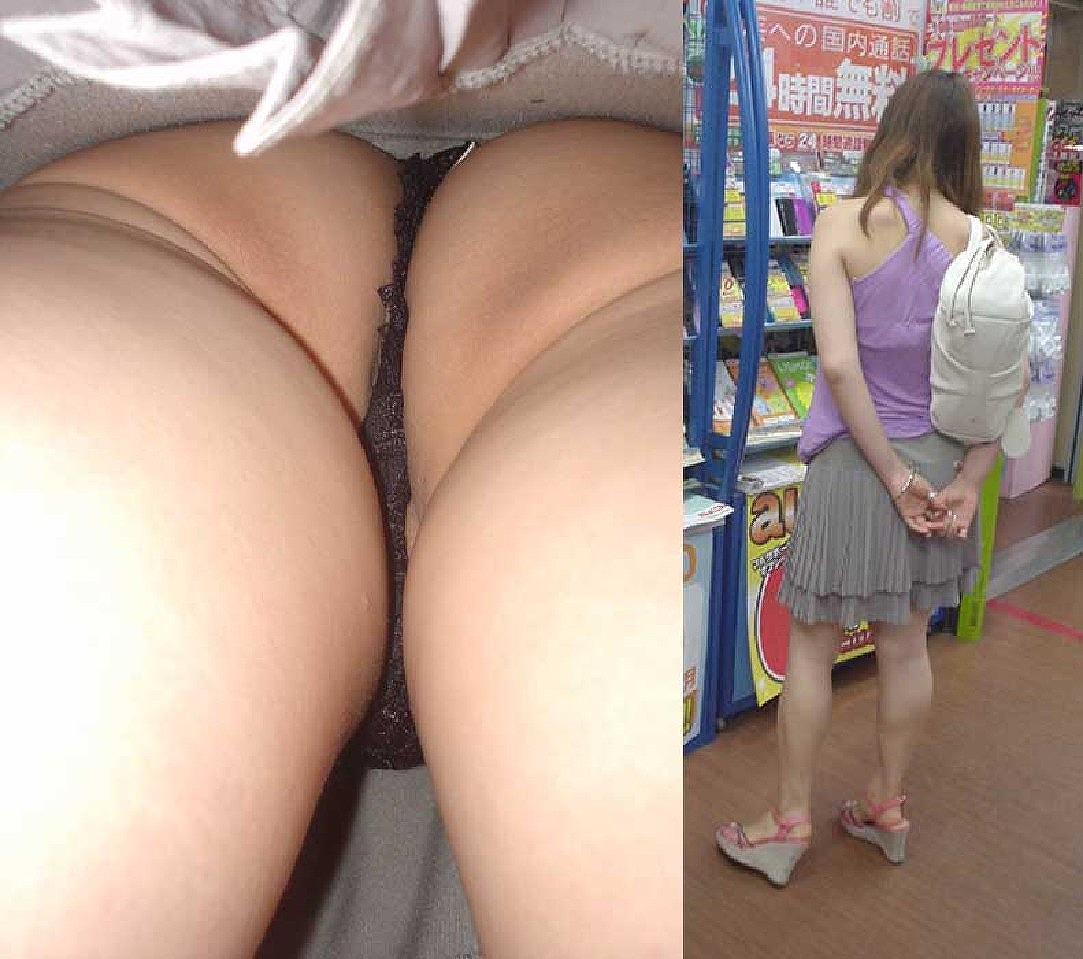 Tバックとかいうエロい下着を履いた素人女性www逆さ撮りパンチラこっそり撮影wwwwwww 1533 1